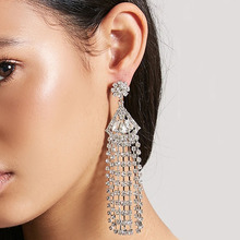 Pomlee Vintage Set Auger colorful Drop Dangle Earrings for Women Wedding Rhinestone Jewelry Statement Earrings Hot 2019 Party a suit of vintage rhinestone wedding jewelry set for women