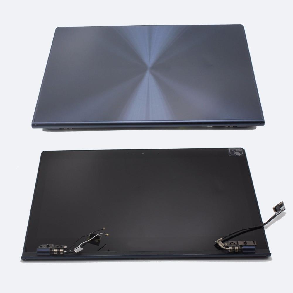 2560x1440 visualizzazione a pieno schermo lcd della copertura posteriore cerniere di ricambio touch digitizer assembly per asus zenbook ux301 ux301l ux301la
