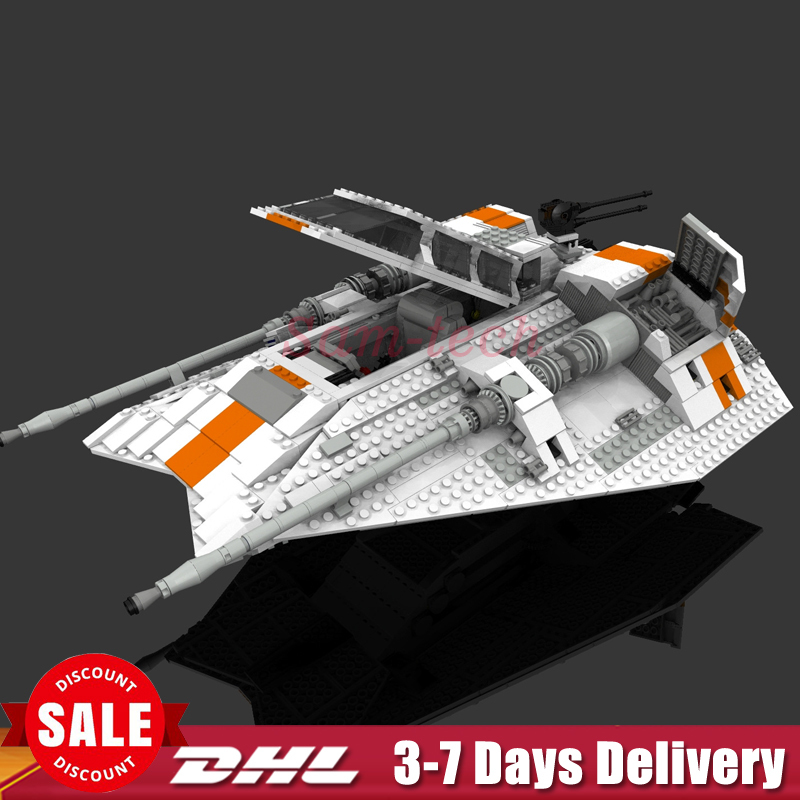 IN Stock Lepin 05084 1457Pcs Star Set Wars UCS Rebel Snowspeeder Model Building Kits Blocks Bricks For Compatible 10129 Toy a toy a dream lepin 15008 2462pcs city street creator green grocer model building kits blocks bricks compatible 10185