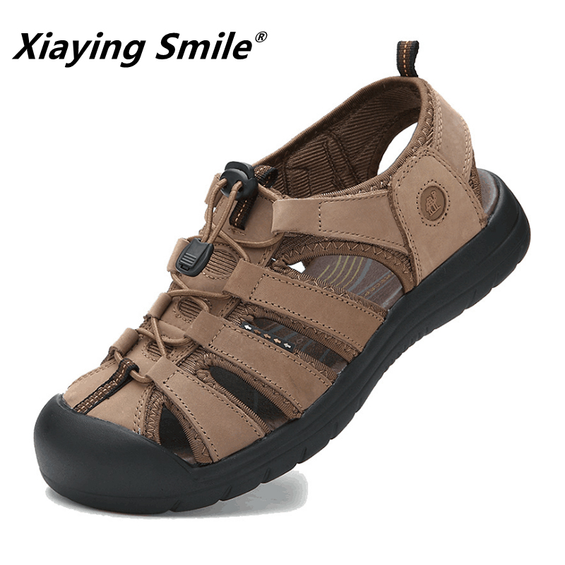 Mewah New Fashion Musim Panas Sepatu Kulit Sapi Pria Sandal Mens - Sepatu Pria