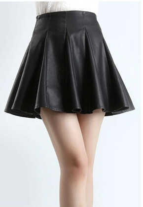 5014da5ff2a Woman customized plus size 4XL 6XL 7XL 8XL 9XL high waist Black mini pleated  skirts faux