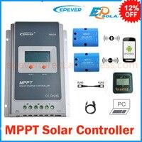 Tracer 1210A 10A MPPT solar şarj regülatörü 12 v 24 v LCD EPEVER Regülatörü MT50 WIFI Mavi Diş PC Iletişim Mobil UYGULAMASı WY