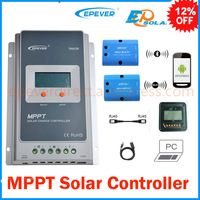 Tracer 1210A 10A MPPT solar charge controller 12v 24v LCD EPEVER Regulator MT50 WIFI Blue Tooth PC Communication Mobile APP WY