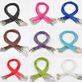 Sale 10 Pcs/lot  Real Leather Adjustable Braided Rope  Lobster Clasp String Cord 3 mm Free Shipping