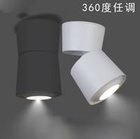 Işıklar ve Aydınlatma'ten Gömme Işıklar'de 10 adet Yüzeye Monte COB Downlight 7 W/10 W/15 W/20 W Katlanabilir Downlight Germe AC110V 240V LED Downlight 360 derece Dönebilen