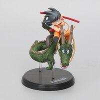 15CM Anime Dragon Ball Z PVC Action Figures Son Goku Shenron Collection Model Dolls Free Shopping