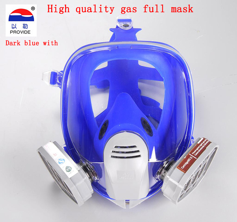 PROVIDE advanced protective mask high quality Brand respirator gas mask Painting pesticide full face respirators gas mask protective outdoor war game military skull half face shield mask black