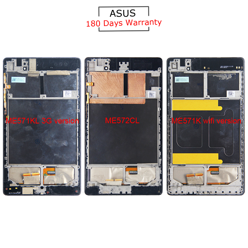 купить For Asus Google Nexus 7 ME571 ME571K ME571KL ME572 ME572CL New LCD Display Touch Screen+Frame Assembly Replacement по цене 1631.94 рублей