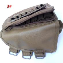 NEW Tactical Airsoft Rifle Stock Cheek Rest Shell Ammo Holder Bag Pouch Side Loading 12pcs Bullets