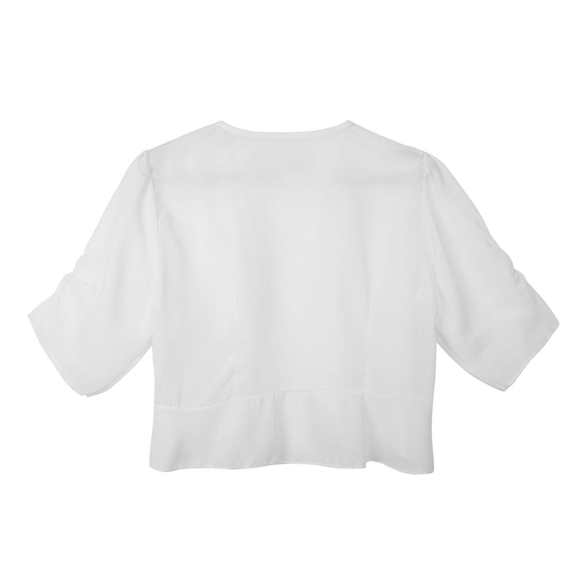 726f551ceef61 Aliexpress.com : Buy 2019 Women Fashion Half Sleeve Open Front Sheer Bolero  Shrug Shawl Cropped Chiffon Slim Cardigan Top Casual Coats Women Clothing  from ...