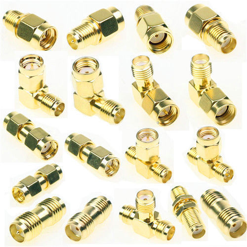 18 Pcs Male Female Plug Antenna Converter Adapter Coax Set