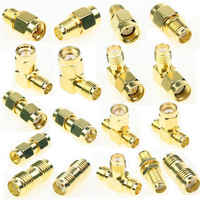 18 Pcs SMA Kits Connector Male Female Plug Antenna Converter Adapter Coax Set