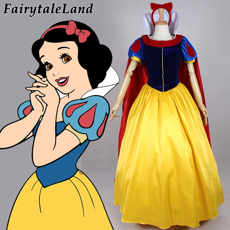 Halloween sexy costumes for women Custom made adult Snow White Dress birthday Party Princess dress Snow white Cosplay costume