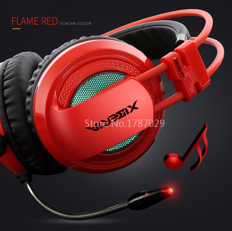 Best Computer Gaming Headset Headband with Microphone Mic XIBERIA V10 Heavy Bass Stereo Game Headphone Light for PC Gamer (13)