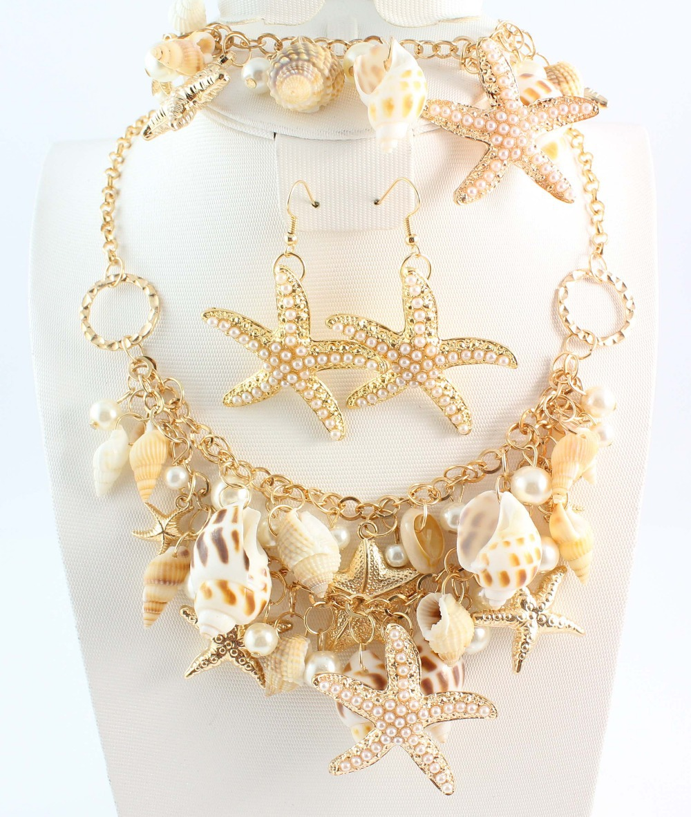 Free Shipping Hot Sale Metal Necklace With Many Ocean