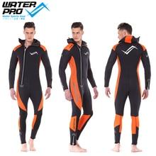 Водная Pro Оранжевый купальный костюм с капюшоном 5 мм унисекс Ultrastretch высокое качество неопрен водные виды спорта Подводное плавание дайвинг