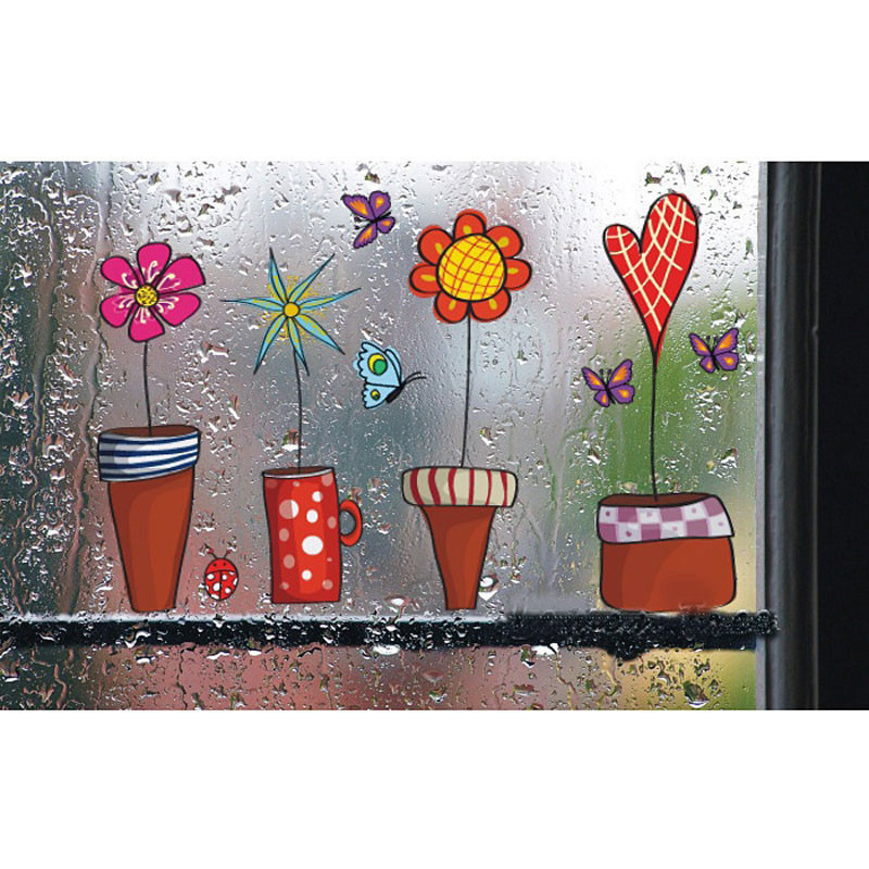 HTB1S0FIKVXXXXbHXXXXq6xXFXXXN - Cute Flower Wall Sticker Kitchen Window Sticker Butterfies Wall Stickers Home Decor Bathroom Vinyl Wall Decals Kids Rooms Decor