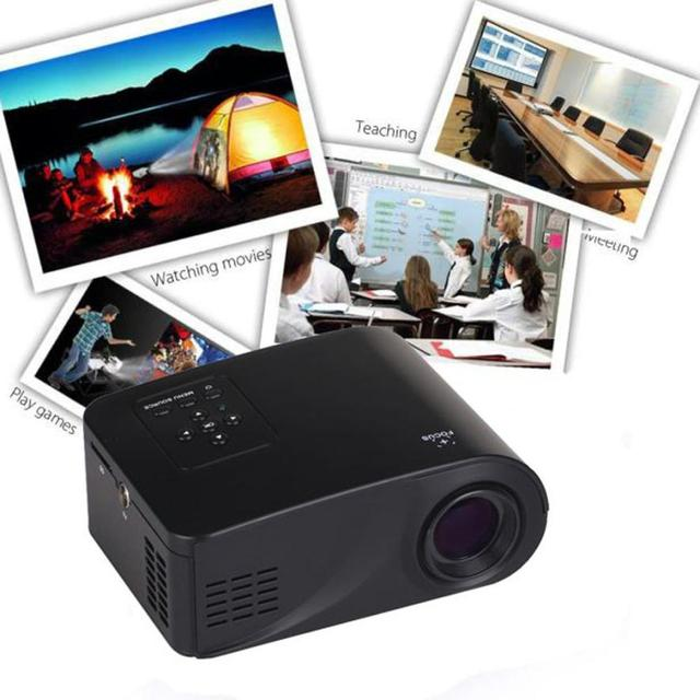 Лучшая Цена X6 Главная Кинотеатр Мультимедиа LED Lcd-проектор HD 1080 P ПК AV TV VGA USB HDMI
