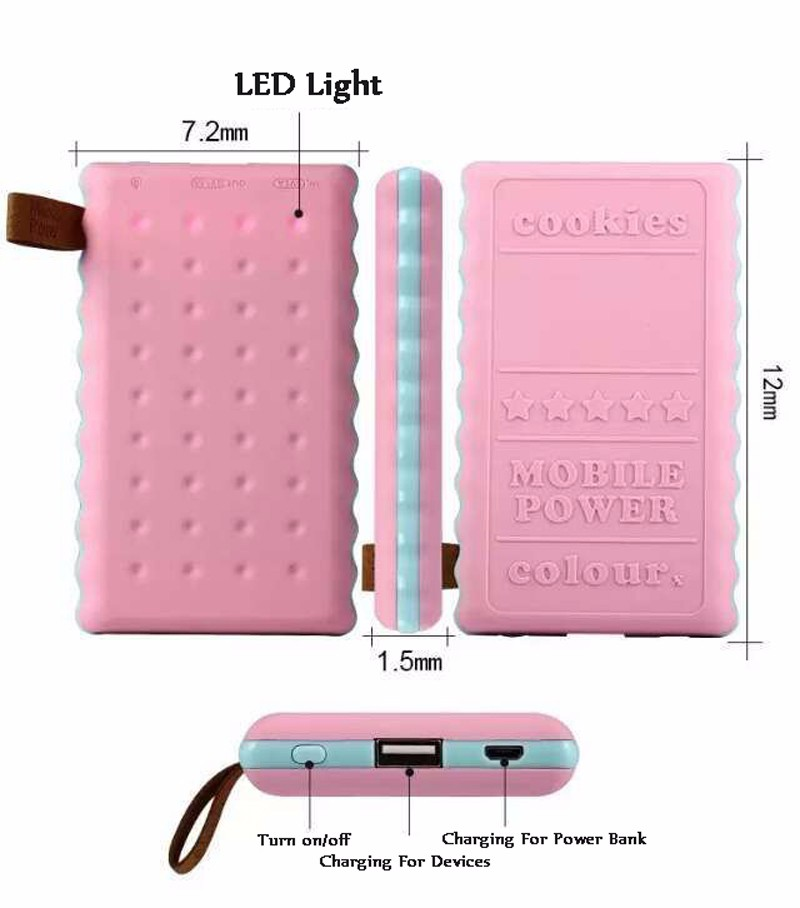 SA18-4-Colors-Cute-8000mAh-Cookie-Power-Bank-Portable-External-Battery-Backup-Charger-Birthday-Gift-Universal-For-Mobile-Phones- (6)