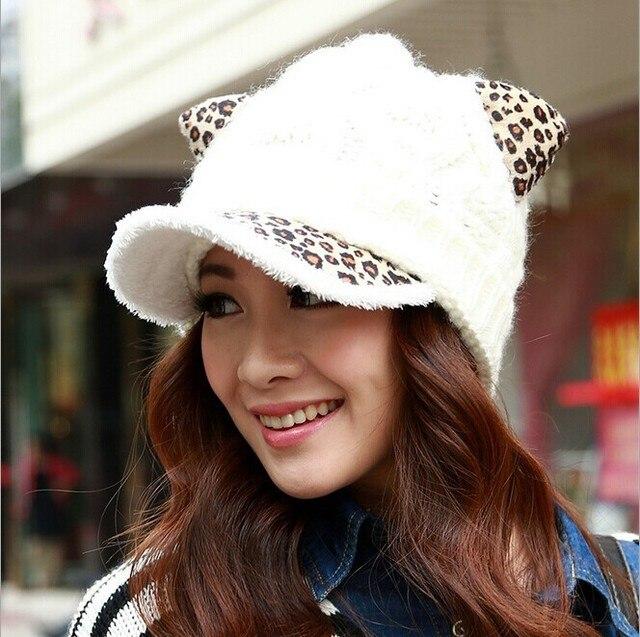 La versión coreana de invierno encantadora del oído de gato viseras ...