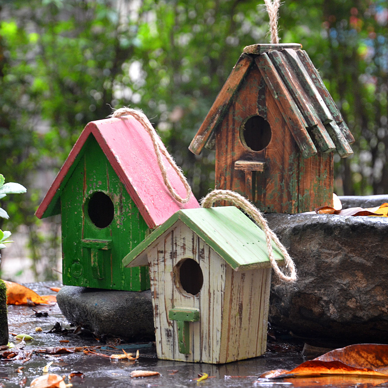ZHENWEN Retro Finishing Garden Decoration Wood Bird House Bird Cage In  Figurines U0026 Miniatures From Home U0026 Garden On Aliexpress.com | Alibaba Group