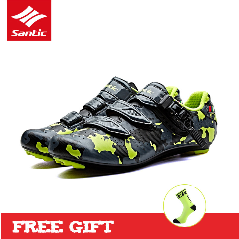 Santic 2017 Road Bike Shoes Cycling Shoes Men Breathable Pro Road Racing Cycle Bicycle Shoes Riding Sneakers Zapatillas Ciclismo santic men pro cycling shoes road bicycle shoes breathable