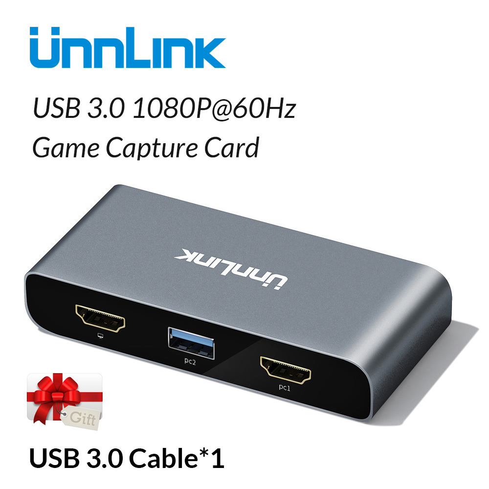 Unnlink USB3.0 Game Capture Card Video Capture  FHD1080P@60Hz Recording Live Streaming for PS3 PS4 xbox one 360 nintend switchUnnlink USB3.0 Game Capture Card Video Capture  FHD1080P@60Hz Recording Live Streaming for PS3 PS4 xbox one 360 nintend switch