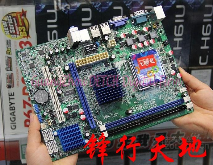 C.G41H D3 V23 supports DDR3 775 -pin integrated small plate G41 Motherboard free shipping for mingxuan ms g41ml s3 775 needle g41 fully integrated small board supports ddr2 ddr3 test all good