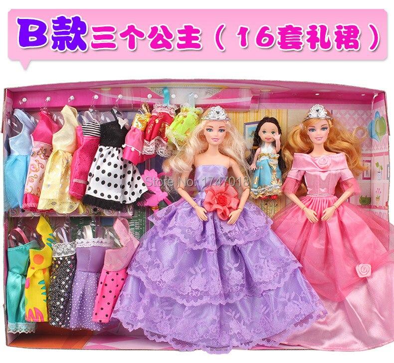 Free Shipping Bobbi Doll Princess Gift Set Sweet Girl Doll House A