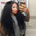 250% High Density Loose Curly Wave Full Lace Front Human Hair Wigs For Black Women 7A Glueless Brazilian Thick Front Lace Wigs