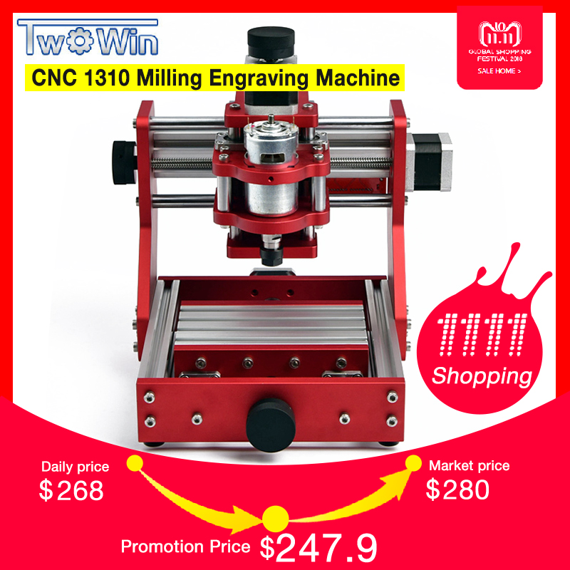 CNC 1310 Metal Engraving Cutting Machine Mini PCB Aluminum Copper Engraving Machine Working Area 126mm*88mm*38mm with Grbl high configuration pcb cutting tool mach3 manual pulse full serial communication with coordinate display for metal engraving