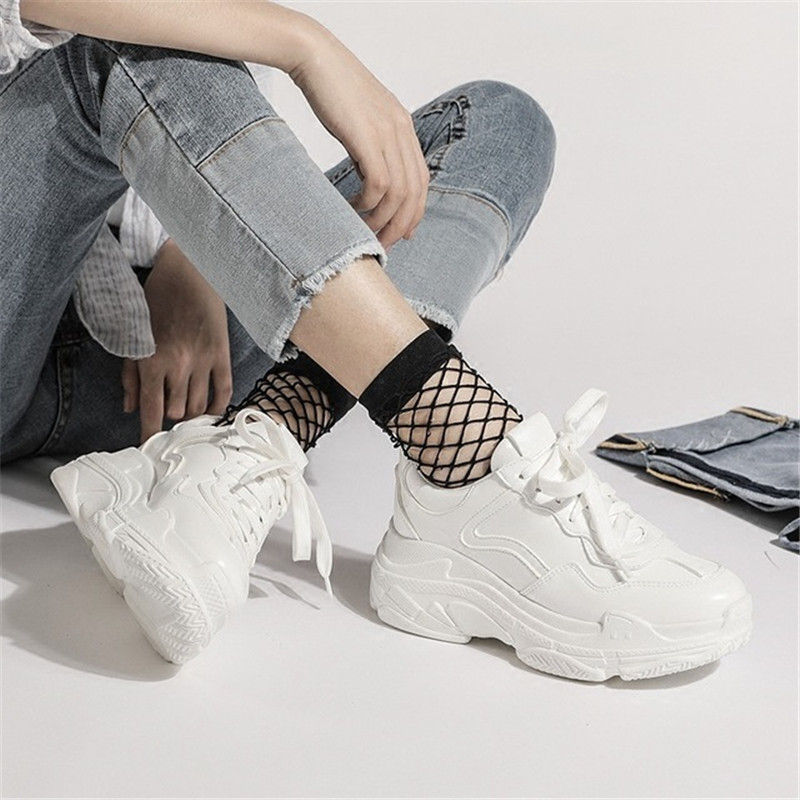 d3b811ba0a98 Chunky Sneakers Shoes Women 2018 New Fashion Dad Shoes Sneakers Women White  Shoes Trainers Women Lace up Comfortable Shoe Female-in Women s Vulcanize  Shoes ...