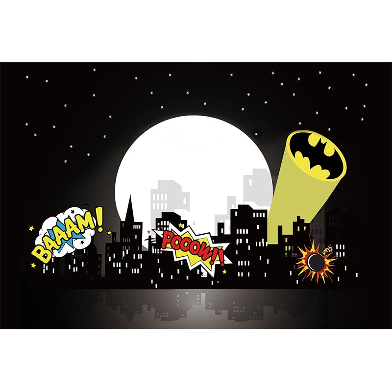 Vinyl Photography Background Cartoon Superhero Theme Building Comic Custom Children Backdrops for Photo Studio LV-032 8x8ft vinyl custom children theme photography backdrops props photo studio background j 6970