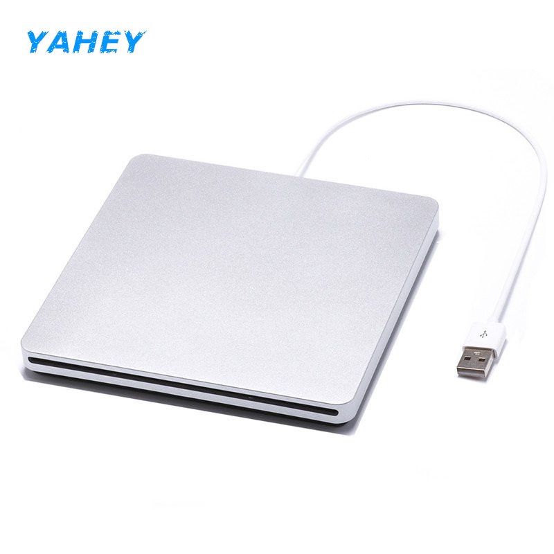 USB 2.0 Slot Load External DVD Burner Drive CD ROM CD RW Player Optical Superdrive for MAC Pro Laptop Computer pc windows10