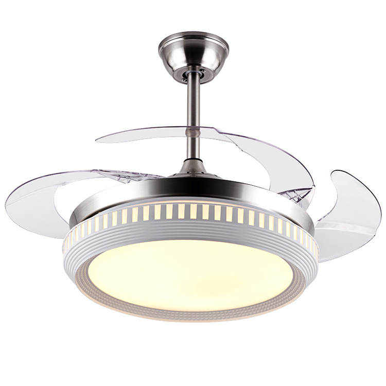 Invisible ceiling fan with led light and remote control 4 - Bedroom ceiling fans with remote control ...