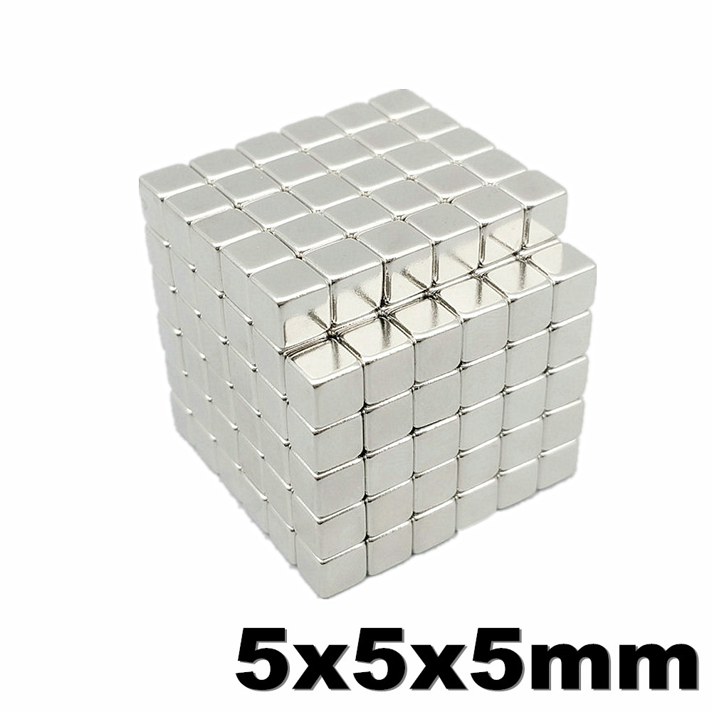 20pcs <font><b>5x5x5</b></font> Strong <font><b>Neodymium</b></font> <font><b>Magnet</b></font> N35 NdFeB Super Powerful Small Block Magnetic Buck cubes <font><b>Magnets</b></font> Build Toy 5mm x 5mm x 5mm image
