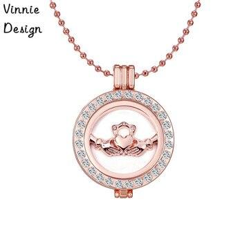 Vinnie Design Mein 35mm Münzhalter Anhänger Halskette Fit 33mm