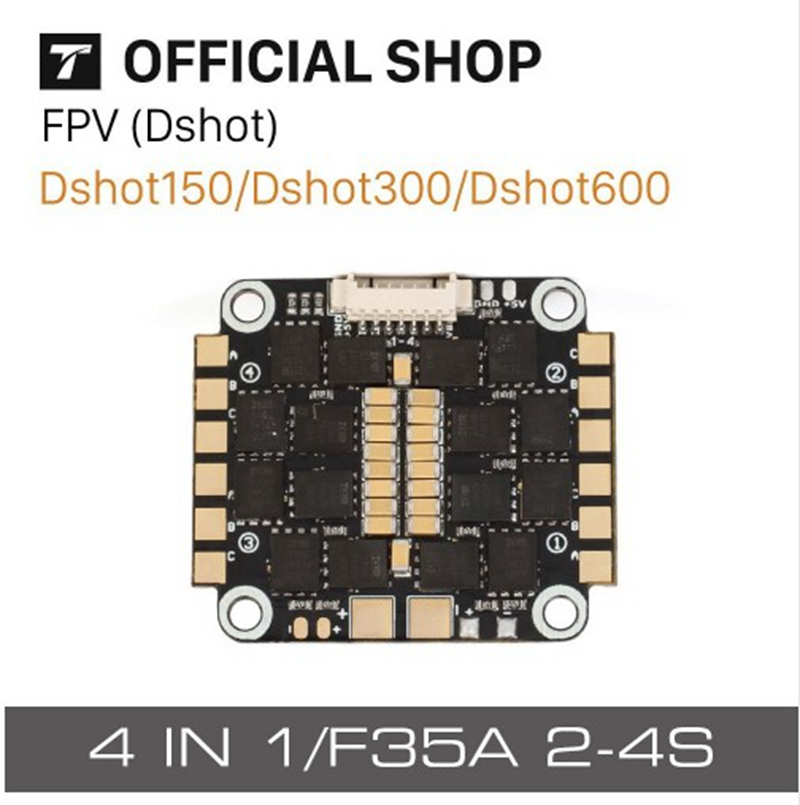 T-Motor F35A 35A 4 In 1 2-4S ESC BLHeli_S Dshot600 Multishot Oneshot For FPV Quadcopter Racing Racer RC Drones DIY Spare Parts original racerstar rs30a lites 30a blheli s bb2 2 4s brushless esc for fpv quadcopter racer rc racing drones frame kit spare