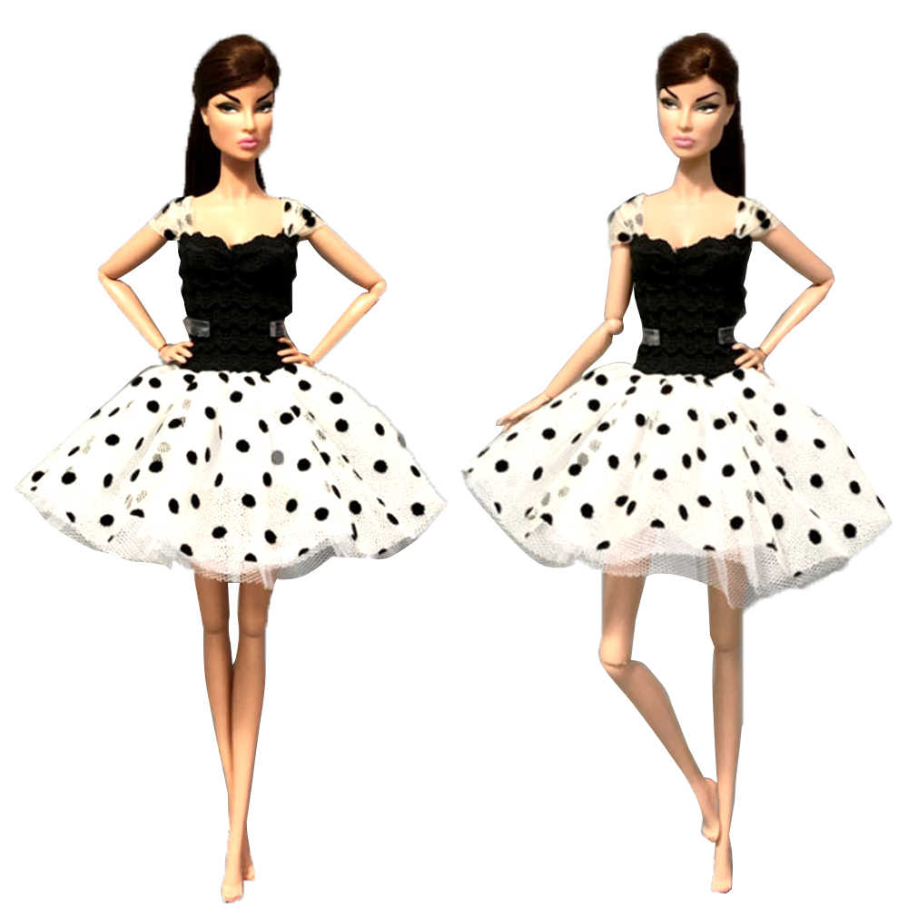 NK One Set Many Styles Of Fashion Doll Clothes Dress Leisure Fashion Skirt Party Gown For Barbie Doll Girl Best Gift 02 JJ XQ