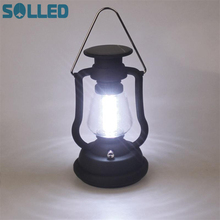 SOLLED High Power 16 LED Camping Light Solar Camping lantern With Solar Panel Hand Crank Outdoor Portable Lamp For Hiking