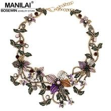 Las mujeres de La Vendimia Declaración Gargantillas Collares de Flores de Diseño de Lujo Pedrería Multicolor Bib Collares Maxi Collares Collier Femme