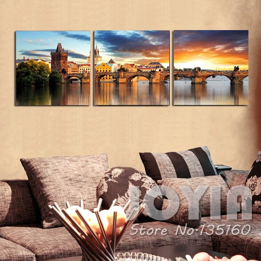 Home Decor Modern Paintings The Vltava River Landscape Canvas ...