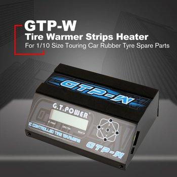 GTP-W IC Temperature Controlled Tire Warmer Strips Cup Heater with LCD Display for 1/10 Size Touring Car Rubber Tyre Spare Parts