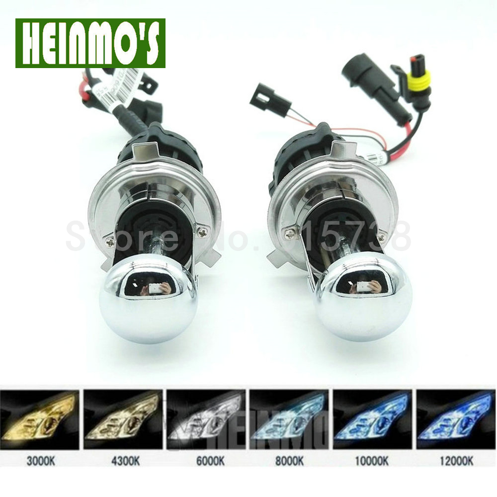 35W H4 10000K High Low Beam HID Bi-Xenon H4-3 Hi-Lo Replacement Bulbs Blue Light