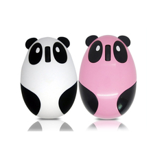 Cute Mini Panda gaming wireless mouse 2.4G gamer Rechargeable silent usb ports computer mause white pink gift for kid
