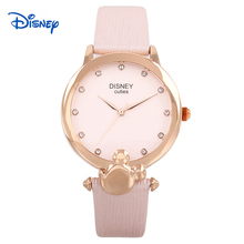 Disney 2016 Mickey cartoon Ladies Wrist Watch Women Brand Famous Female Clock Quartz Watch Girl Quartz