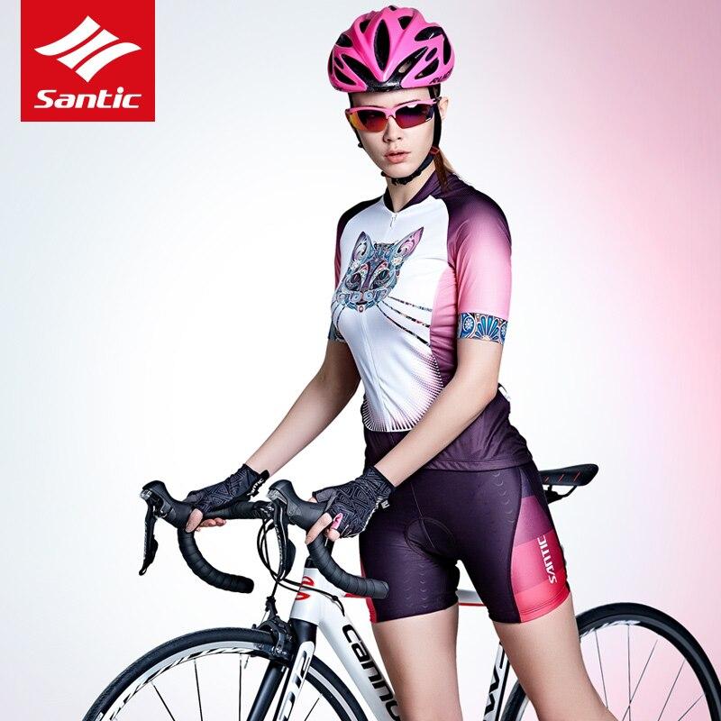 Santic maillot de cyclisme femmes 2018 été vélo T-shirt Pro route course vélo maillot descente Sports de plein air Ropa Ciclismo