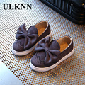ULKNN Girls shoes leather 2017 spring new girls single shoes shallow mouth small leather shoes patent leather soft leather shoes
