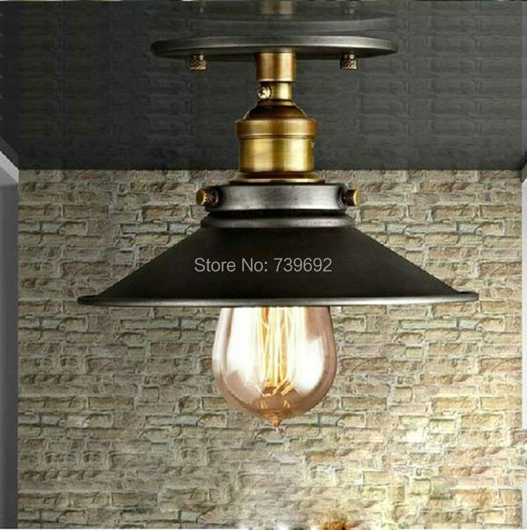 industrial style home lighting. american countryside industrial iron ceiling lamp vintage style bar home decor balcony corridor lighting black color