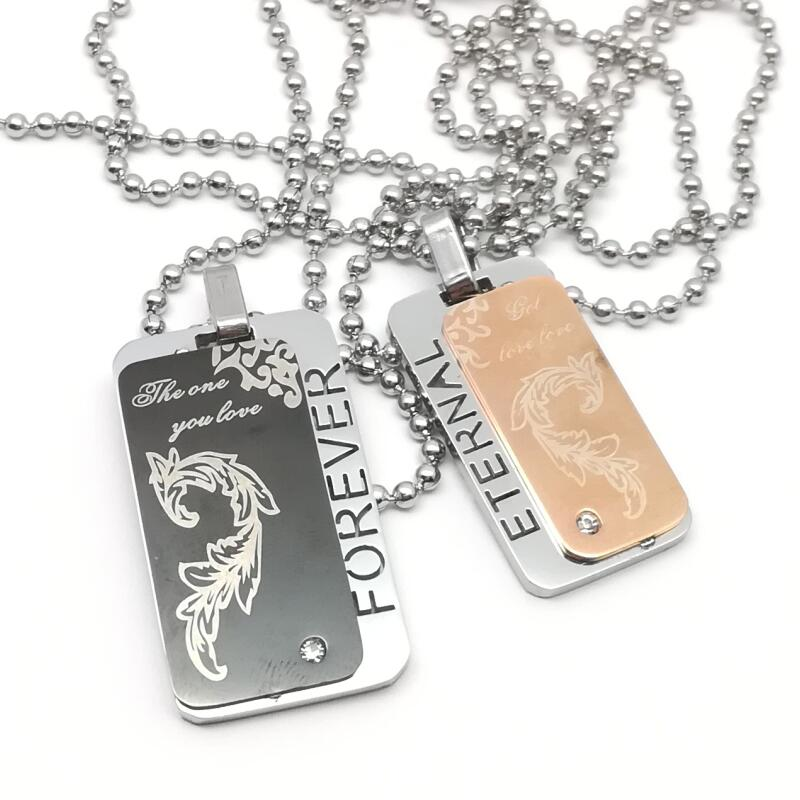 personalized id army tags necklace custom stainless steel. Black Bedroom Furniture Sets. Home Design Ideas